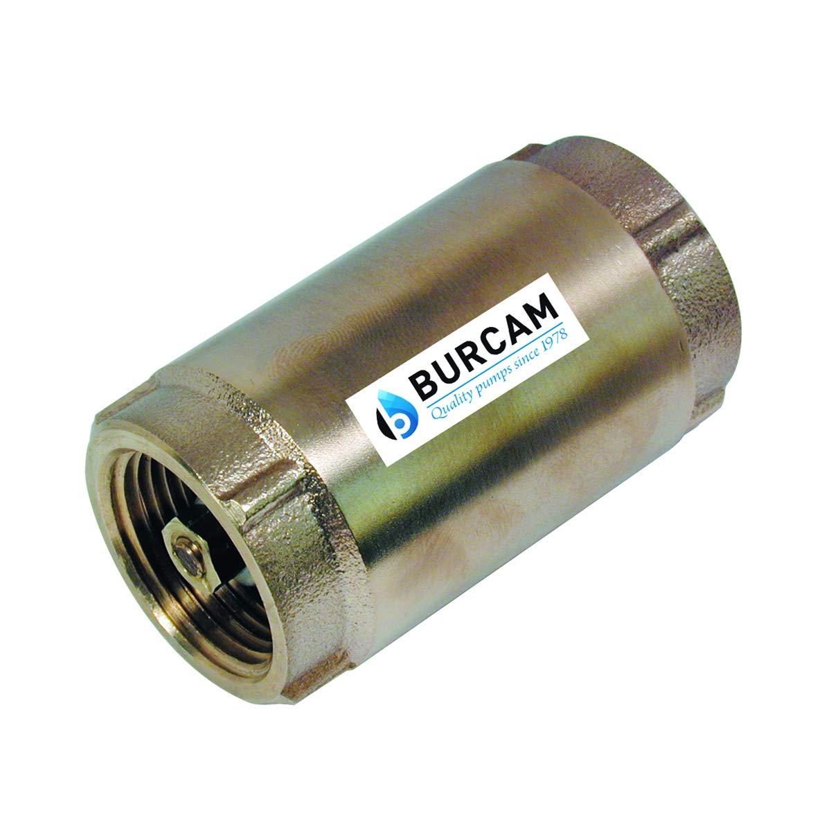 BURCAM 750762 1 1/4'' Lead Free Brass Check Valve, Bronze by Bur-Cam