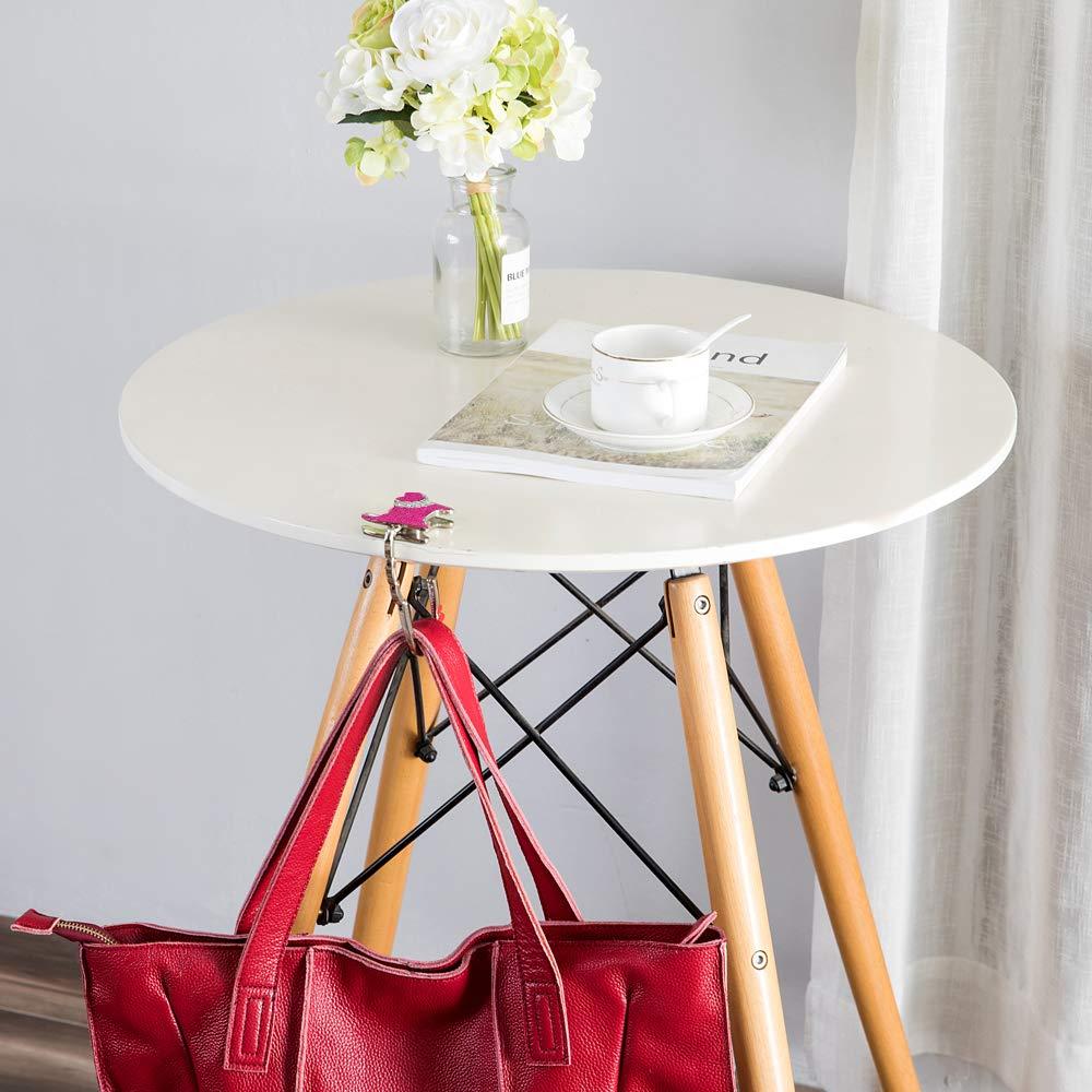CHIVENIDO Cute Foldable handbag holder Premium Metal Bag Hanger Cat Shape Purse Hook for Table