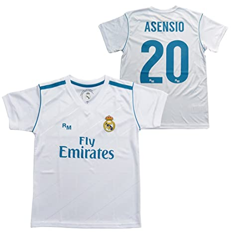 Camiseta 1ª Equipación Replica Oficial REAL MADRID CF 2017-2018 Dorsal ASENSIO - Tallaje ADULTO