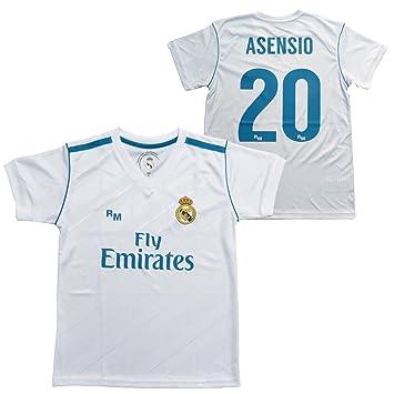 Camiseta 1ª Equipación Replica Oficial REAL MADRID CF 2017-2018 Dorsal ASENSIO - Tallaje ADULTO (XL): Amazon.es: Deportes y aire libre