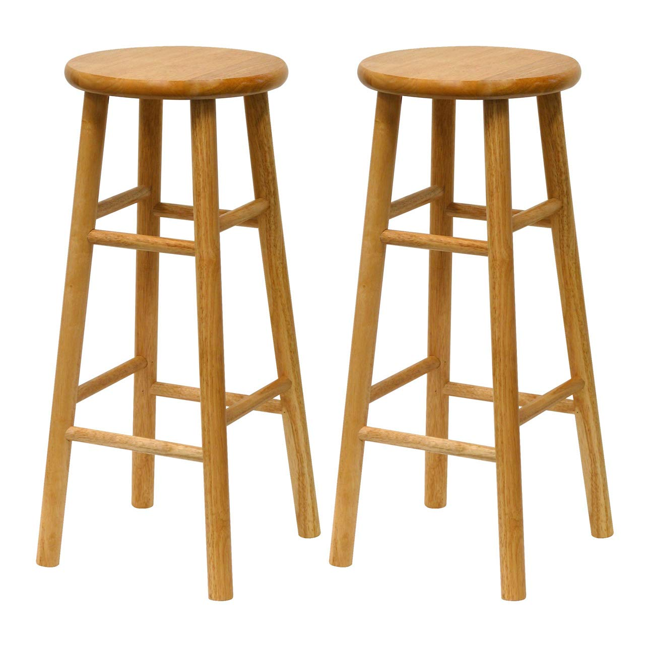 Winsome Wood 30-Inch Classic Style Bar Stools Set of 2, White Include Free Laundry Mesh Bag