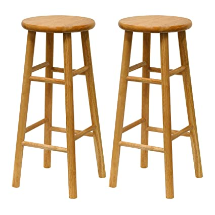Amazoncom Winsome Wood S2 Wood 30 Inch Bar Stools Natural Finish