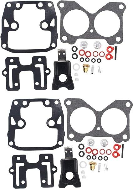 ApplianPar Pack of 2 Carb Carburetor Rebuild Repair Kit for Johnson Evinrude V4 85 90 100 115 125 140 HP
