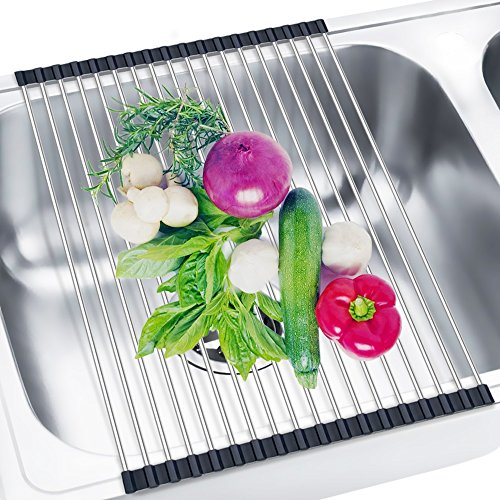 Roll Up Dish Drying Rack 304 Stainless Steel Dish Rack Over