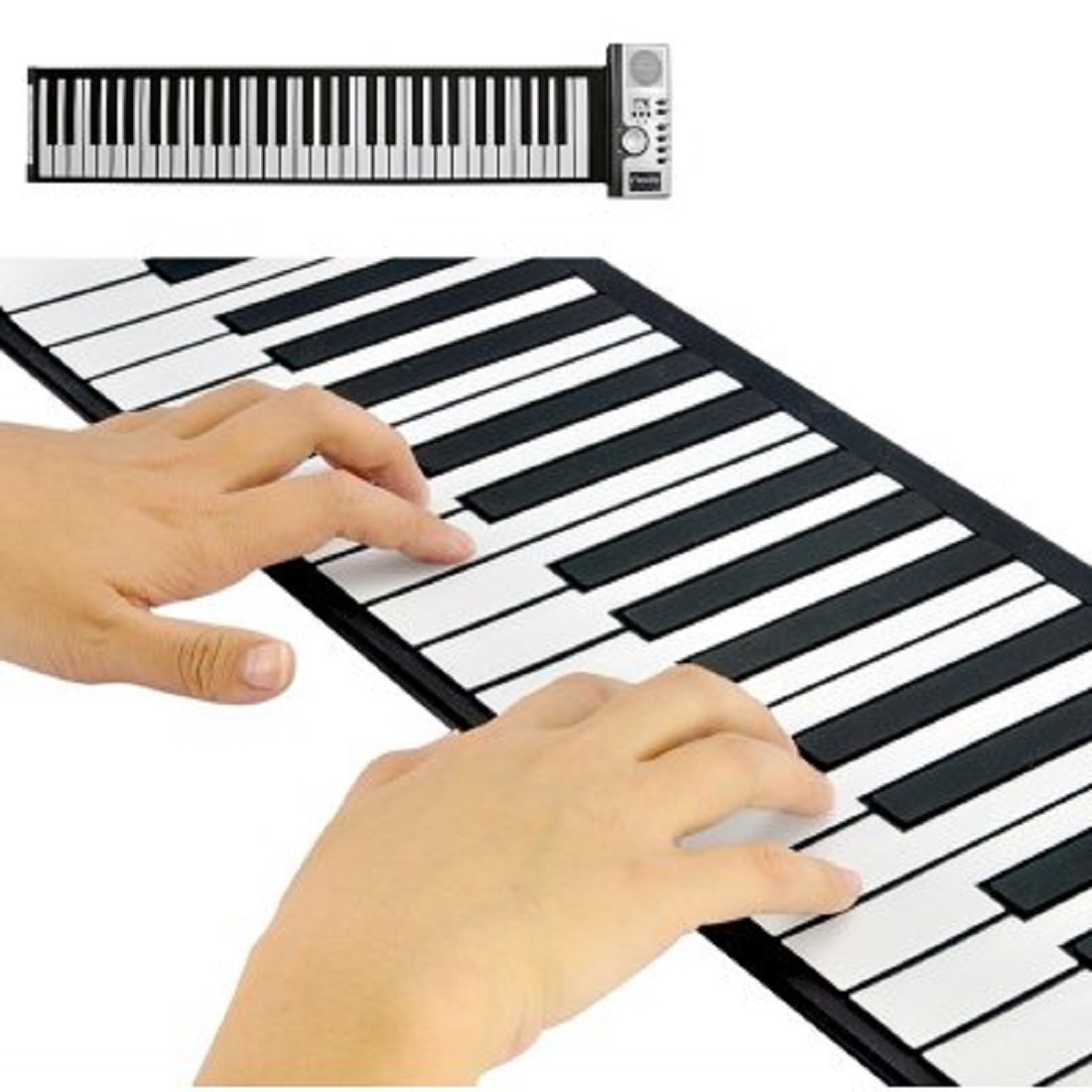 Flexible Roll Up Synthesizer Keyboard Piano With Soft Keys Shopifyl KS-Tablets-422