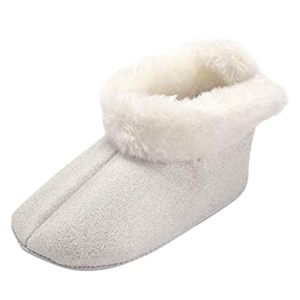Fuxitoggo Toddler Baby Girls Shoes, Winter Cute Solid Warm Villus Soft Sole Boot Shoes Keep