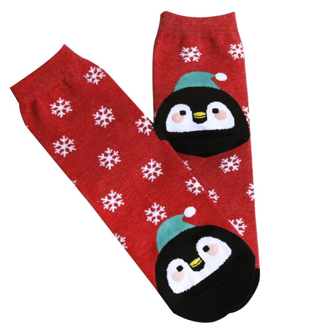 Christmas Socks Unisex Baby womens Girls Anti-slip Socks (Red)
