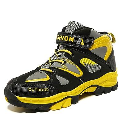 d22a6122bf9131 LiYa Wanderschuhe Kinder Winterschuhe Jungen Mädchen Warm Gefüttert Winter  Outdoor Trekking Schuhe Größe -31