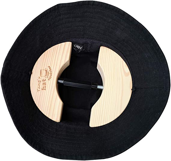Tangs Wooden Hat Stretcher One Size Unisex Adults Hat Shaper with Adjustable Turnbuckle Suits for All Hats