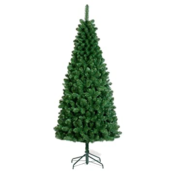 1.8m (6ft) Slim Tree Artificial Christmas Tree: Amazon.co.uk ...