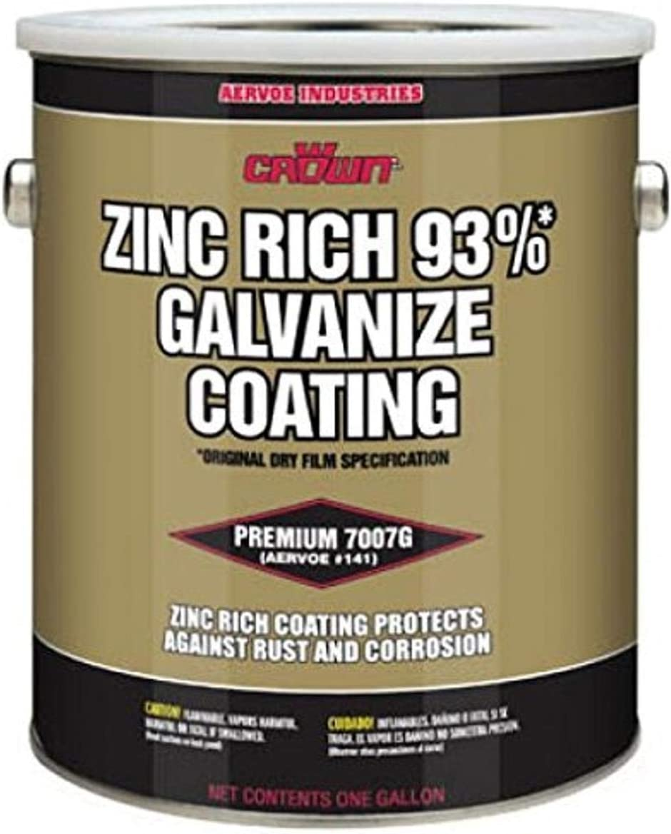 Crown 7007G Metallic Gray Cold Galvanize Coating