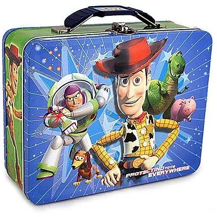 e39764b1e19 Amazon.com  Disney Pixar Toy Story Woody Metal Tin Lunch Box  Kitchen    Dining