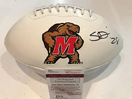 d2e6b7508df Image Unavailable. Image not available for. Color: Sean Davis Autographed  Signed Maryland Terrapins Logo Football - JSA Authentication