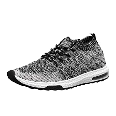 Mens Trainers Lace up Gym Walking Sports Sneakers Casual Running Fitness Shoes