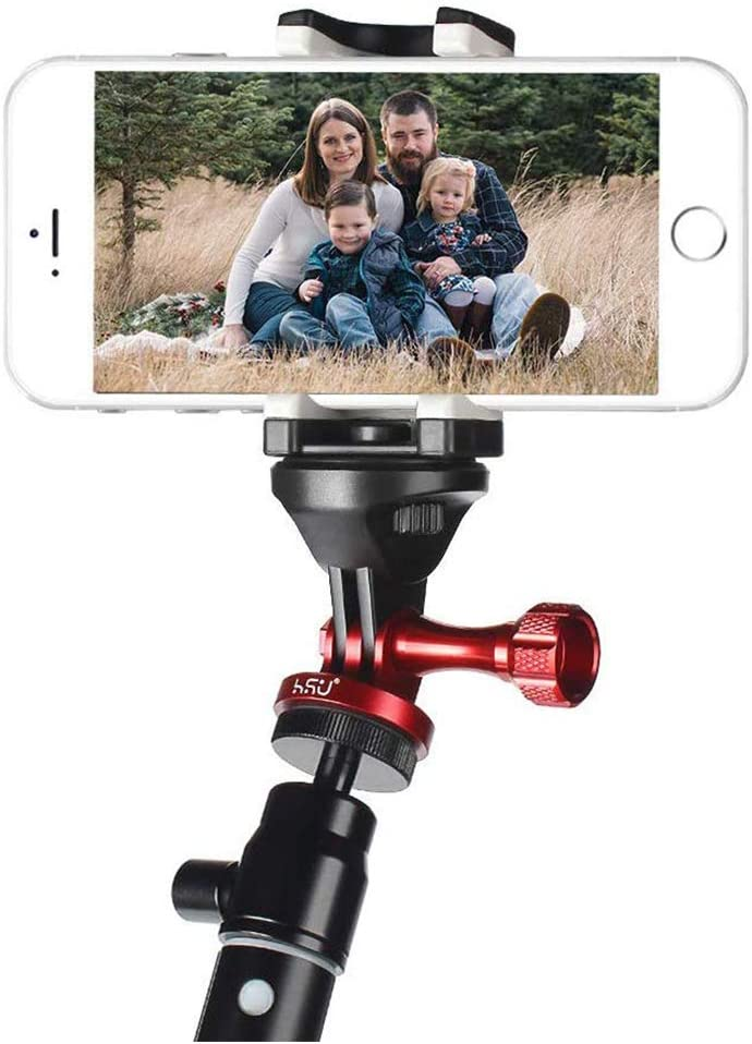 5 Hero 7 6 3 Black 1 HD 3+ 2 4 Aluminum Alloy Metal GoPro Tripod//Monopod Mount with Aluminum Thumbscrew for GoPro Session