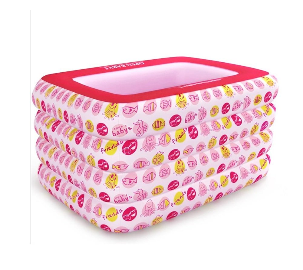 Inflatable Bathtub Plastic Household Multifunctional Insulation Adult Bath Barrel Inflatable Round Bathtub Thickened Collapsible Portable Outdoor Swimming Pool/pink