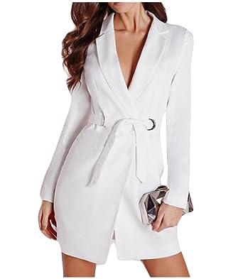 Witkeyseller - Chaqueta de traje - para mujer Blanco blanco ...
