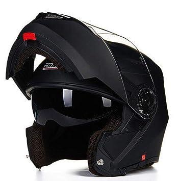 Moto Cascos Ventilación A Prueba De Lluvia con Micrófono Bluetooth Casco De Motocicleta De Cara Completa