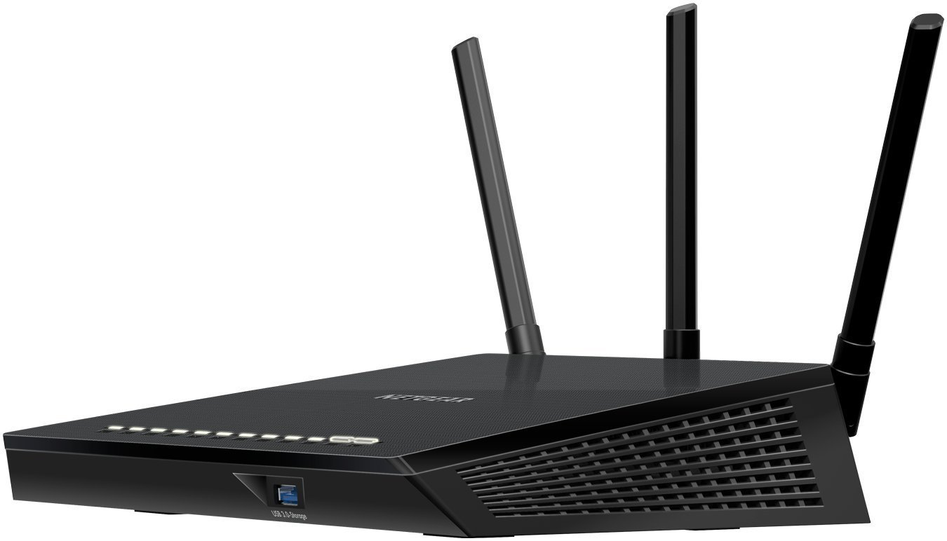 NETGEAR AC1750 Smart Wi-Fi Router, 802.11ac Dual Band Gigabit (R6400-100NAS) (Certified Refurbished) 3 AC1750 WiFi-450+1300 Mbps speeds and high-power external antennas Dual band-Reduces interference for better connections to more WiFi devices. Get up and running in minutes using your mobile device with the NETGEAR Up app.