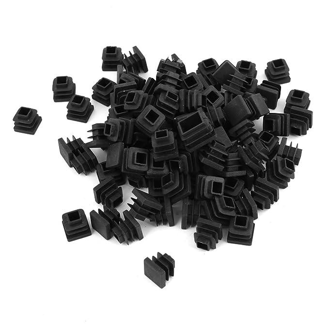 Lot de 100 embouts fin Noir pour Capuchon bouchon de Tube carré 15 mm x 15 mm