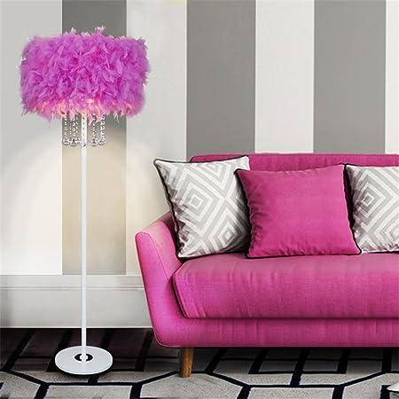 LIYONGDONG® Floor Lamps LED Feather Crystal Tassel Indoor Light ...