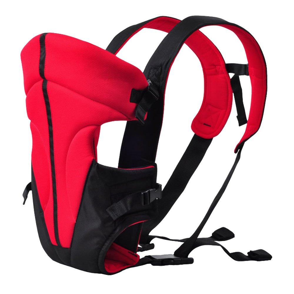 3.6-9.1KG 3-18 Monate Hochrot HJ/® Baby-und Kindertrage Comfort Babytrage Bauch und R/ücken