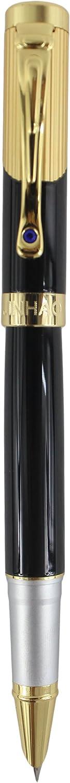 Sipliv 9009 penna stilografica clip dorata bella pennino nero