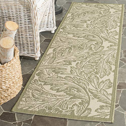 Safavieh Courtyard Collection CY2996-1E01 Natural and Olive Indoor/ Outdoor Runner (2'3