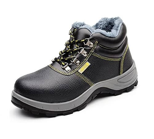AP Safety Shoes - Calzado de protección de Piel para hombre, color Negro, talla 44
