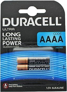 Duracell Pack DE 2 Pilas Ultra AAAA - 1.5V: Amazon.es: Electrónica