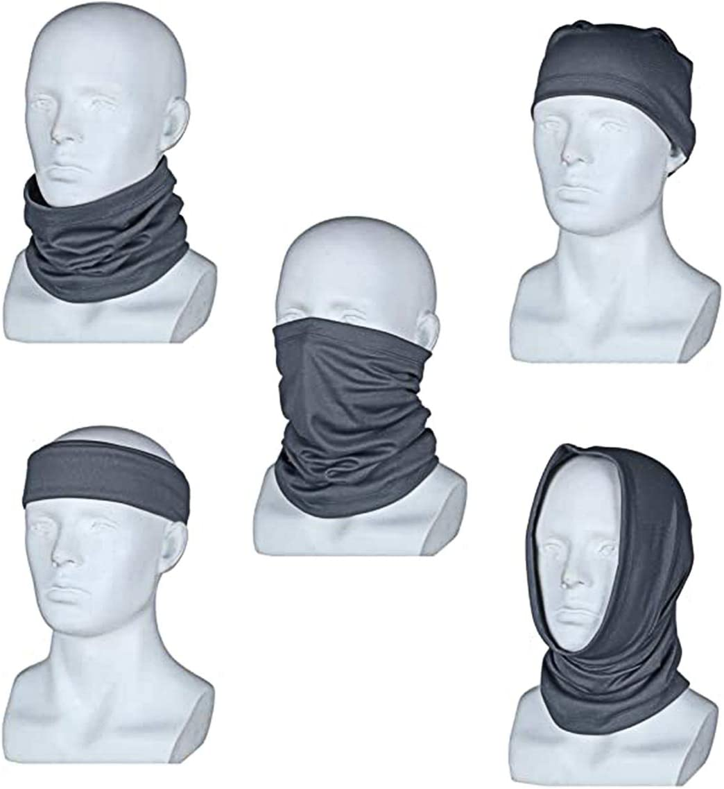 Lightweight Neck Gaiter Sun Protection Face Cover Thin Face Scarf Jinhua Yiyan Breathable Bandana Face Mask Ideal for Fishing Hiking Running Cycling,3pcs