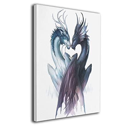 LP ART Canvas Print Wall Art Yin Yang Dragons Picture Painting for Living Room Bedroom Modern Home D cor Ready to Hang Stretched and Framed Artwork 16 x20