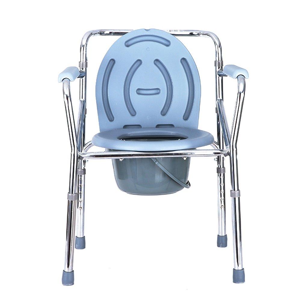 LXN 折りたたみ式トイレ椅子とトイレの椅子のバスルームのアンチスリップ調節可能な高さのバスルームシャワーのスツール高齢者/妊婦/障害者のトイレの椅子   B07DTZYC5Y