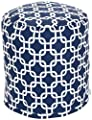 Majestic Home Goods Links Pouf, Small, Navy Blue from Majestic Home Goods LG