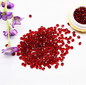 BIT.FLY 4.2mm 10000pcs Acrylic Crystal Diamond Vase Fillers for Table Scatter Wedding Event Party Decoration, Arts & Crafts DIY Ice Rock Treasure Gems - Burgundy
