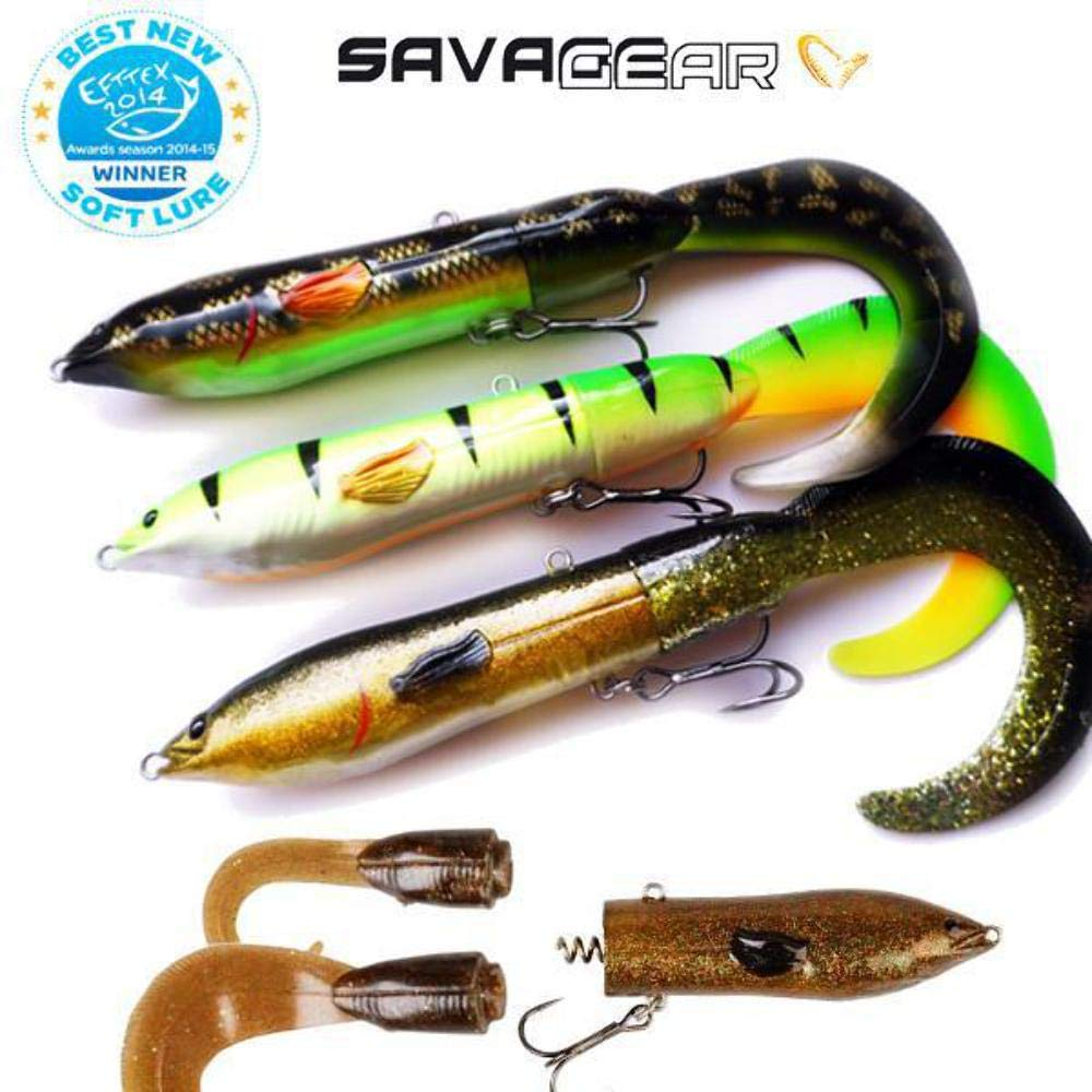 NEW Savage Gear 3D Hard eel Spare Tails 3 LONG or 3 SHORT to fit 17cm or 25cm