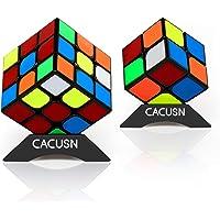 CACUSN 立体パズル 2個セット(2×2、3×3) 令和進化版進化型 回転スムーズ 競技用キューブ 世界基準配色 パズルスタンド付き
