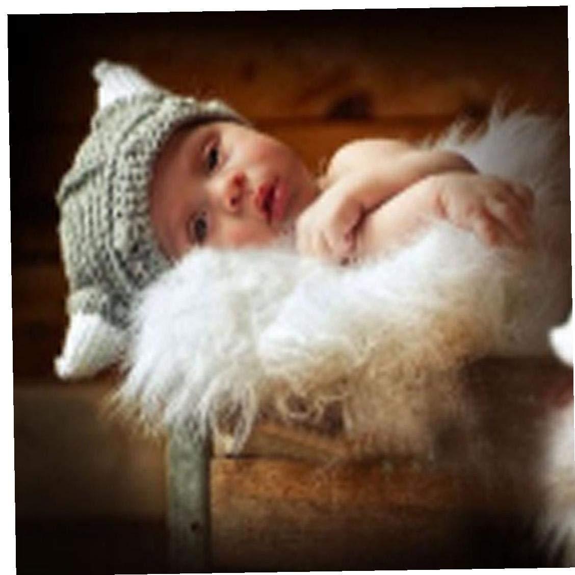 Forma Beb/és Tejer Sombrero Animal Encantador del Ganchillo De La Gorrita Tejida para Ni/ños De Un A/ño De Edad O Menos