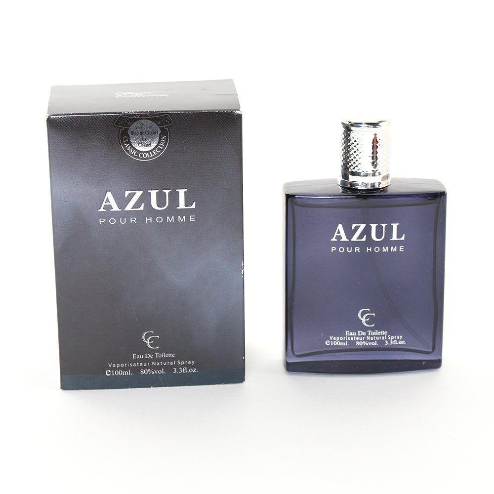 Amazon.com  Perfume Azul for Men 3.3 Ounce EDT by Classic Collection  Beauty b8ad02d4f2