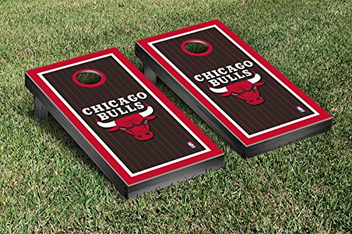 Chicago Bulls NBA Basketball Cornhole Game Set Border Version by Victory Tailgate