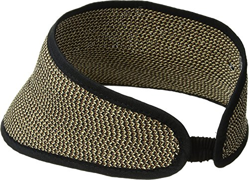 San Diego Hat Company Women's Stretch Band Closure Sport Visor, Mixed Black, One Size by San Diego Hat Company (Image #2)