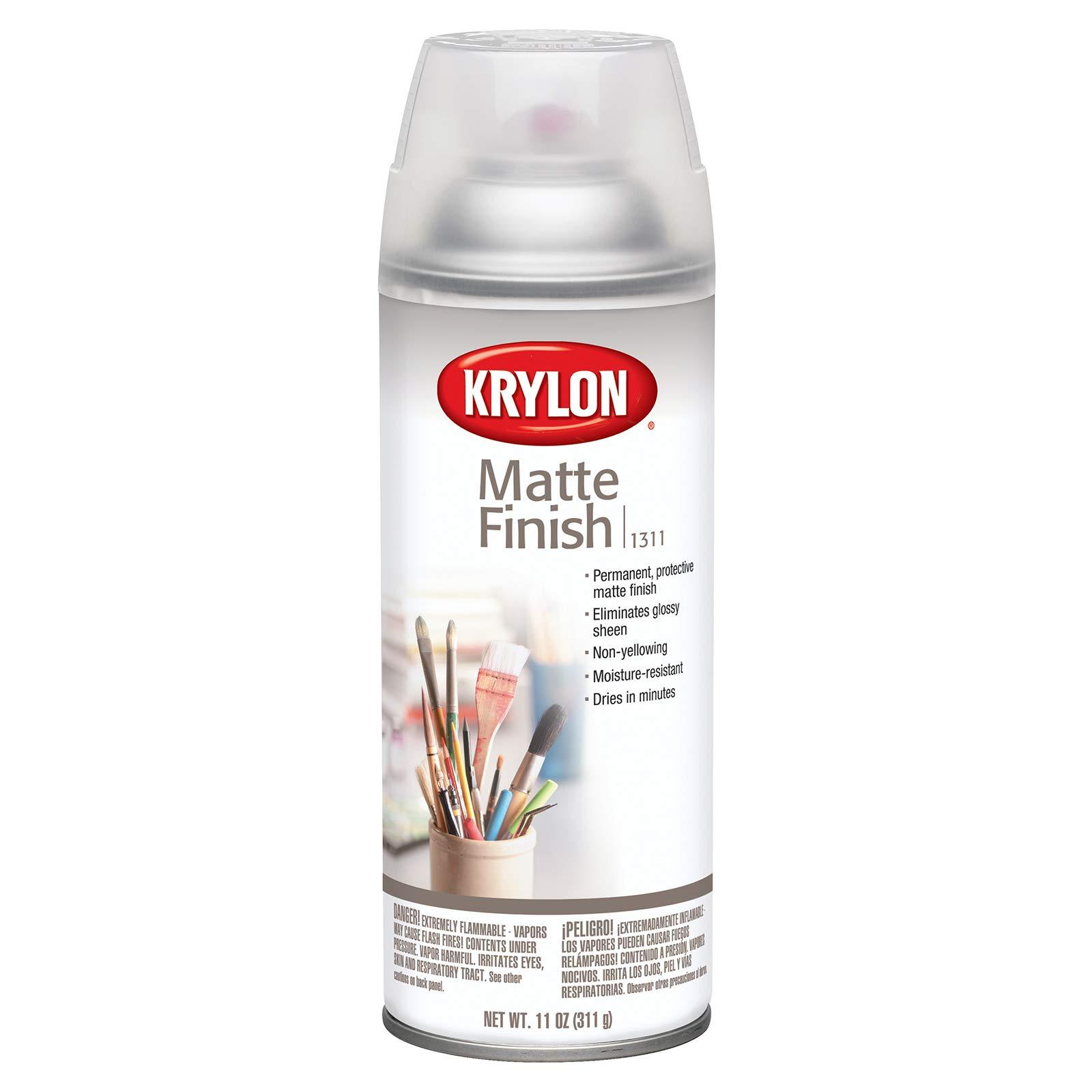 KRYLON DIVERSIFIED BRANDS K01311007 Matte Finish Spray Paint, 11 oz, 11 Oz