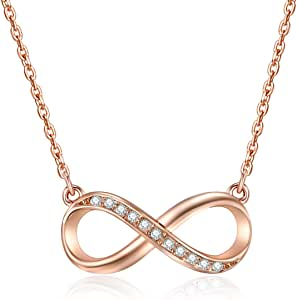 Mestige Rose Gold Infinitely Yours Necklace in Rose Gold for Women (MSNE3400)
