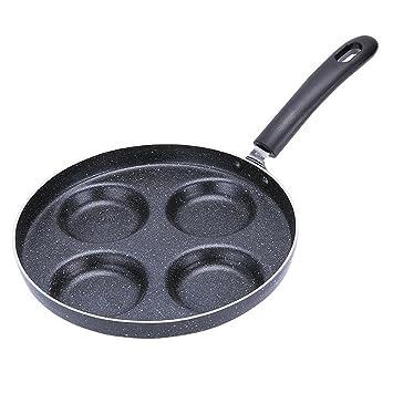 Myhope Utensilios de cocina 4 hoyos tortilla sartén ...