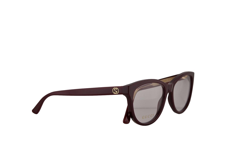 27ea6097c8 Amazon.com  Gucci GG0311O Eyeglasses 55-15-140 Burgundy w Demo Clear Lens  003 GG 0311O  Clothing