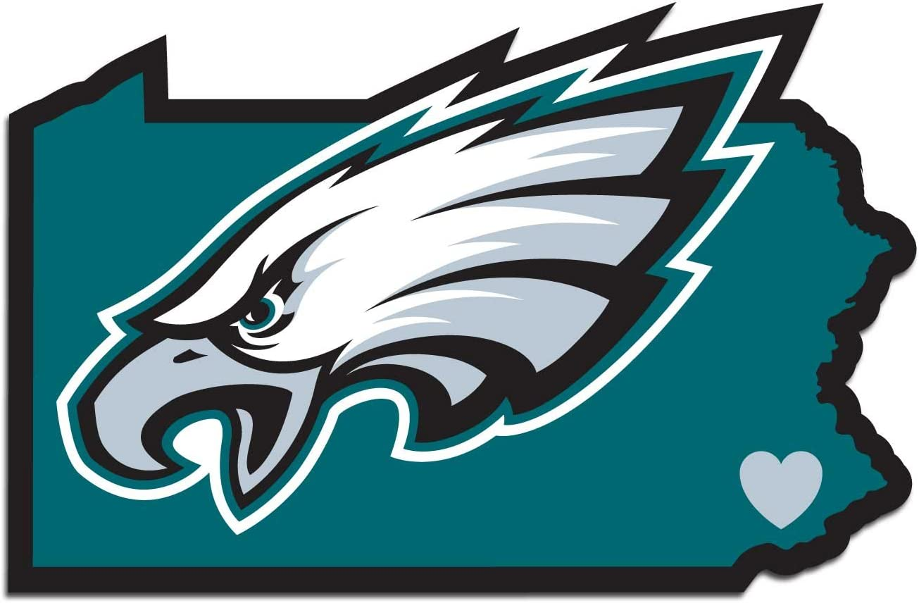 NFL Siskiyou Sports Fan Shop Philadelphia Eagles Home State Decal One Size Team Color