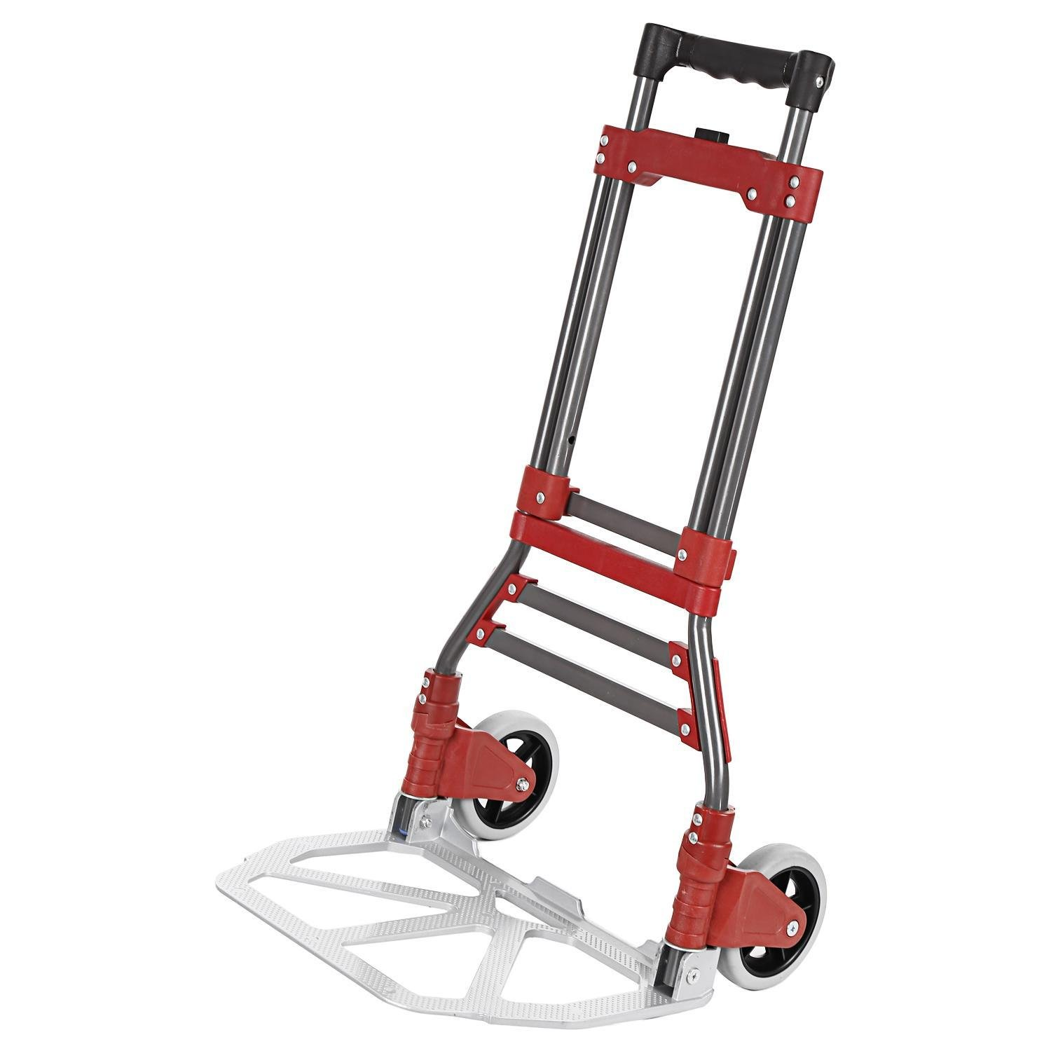 Ferty Aluminum Folding Two Wheel Hand Truck Cart Dollies Bearing 165 lbs with Rope