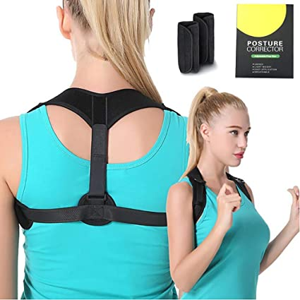 Back Brace for Slouching /& Hunching -Shoulders Clavicle Support Effective /& Comfortable S Upper /& Lower Back Supports Back Brace Posture Corrector For Men /& Women Under Clothes