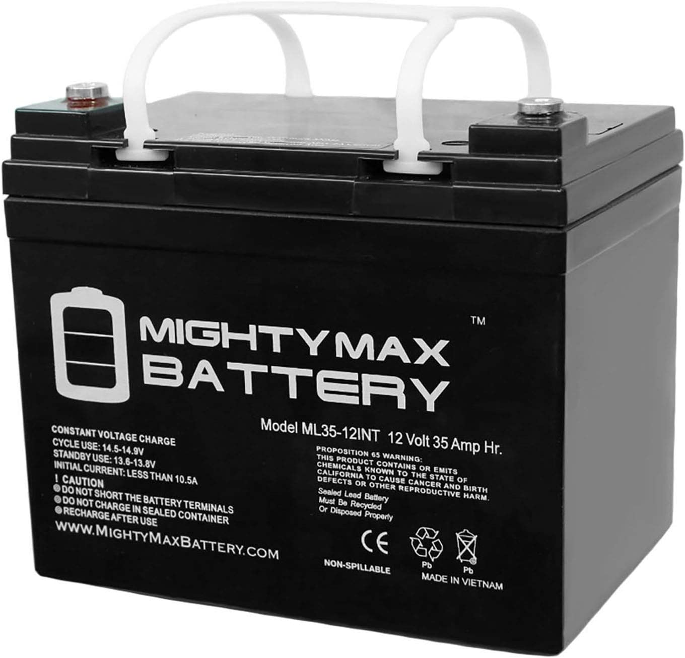Mighty Max Battery 12V 35AH SLA Internal Thread Replacement for Ritar RA12-33 Brand Product