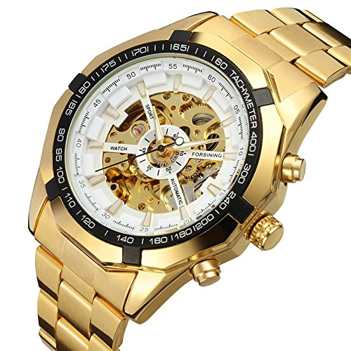 GuTe Watch Classy Skeleton X Dial Auto Self Wind Movement Silver Case - Movement Case Silver